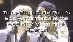 Tom Petty and Axl Rose - 'Free Fallin' and 'Heartbreak Hotel' Live - 1989 MTV Video Music Awards