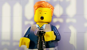 LEGO Brick Roll's Rick Astley's 'Never Gonna Give You Up' (Video)