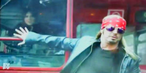 Bret Michaels Gets Run Over By A Bus
